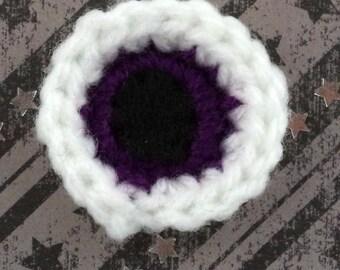 Eyeball Lapel Pin in Purple
