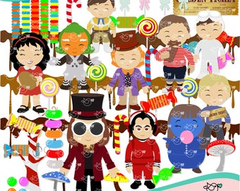 Charlie and the Chocolate Factory Clipart instant download PNG file - 300 dpi