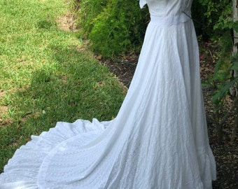 Vintage wedding dress. Boho wedding. Beach wedding dress. Country wedding dress