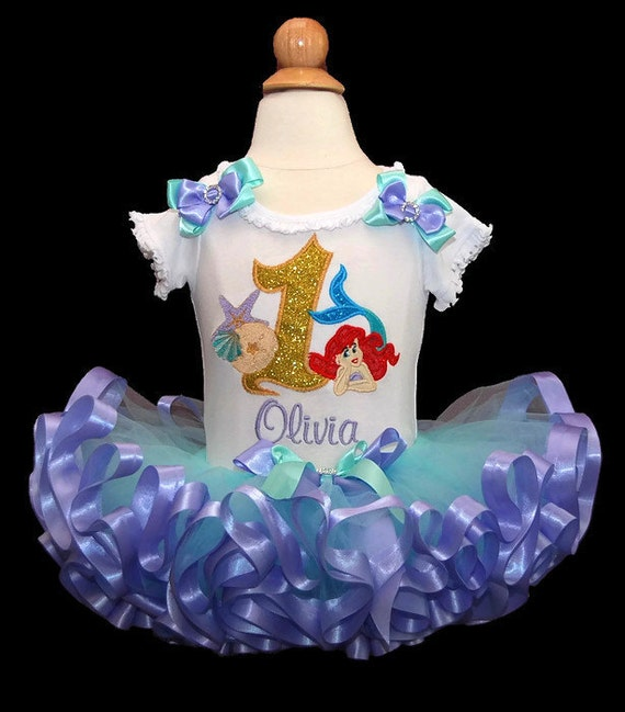Little Mermaid Birthday Outfit Personalized 1st Birthday Girl