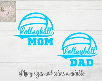 Volleyball Mom Decal, Volleyball Dad Decal, Sports Decals, Volleyball Car Decal, Volleyball Windshield Decal, Volleyball Window Decal