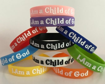 TEN 2018 Primary WRISTBANDS - I Am a Child of God - (10) LDS