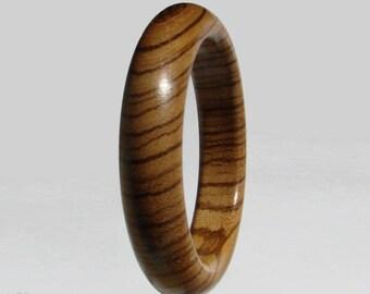 Zebrano wood bracelet