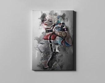 Harley Quinn canvas print wall art home decor