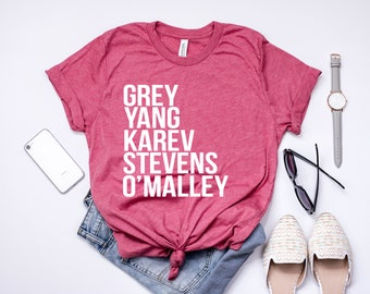 Grey's Anatomy Shirt. Grey Yang Karev Stevens O'Malley Shirt