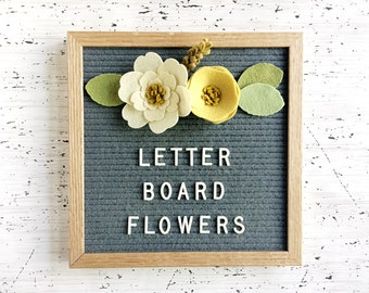 NEW Felt Letter Board Flowers - Add-ons for Felt Letter Boards - Decor for Photo Props, Parties, Showers and Every Day - Ivory / Ochre