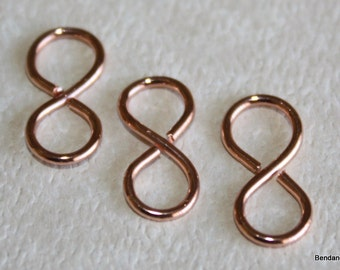 Handmade Copper Figure Eight Connector, Figure 8, Link