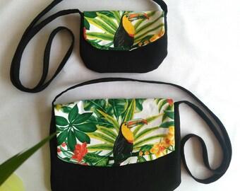 """The large """"summer handbag - Mapluce - Toucan"""" for women."""
