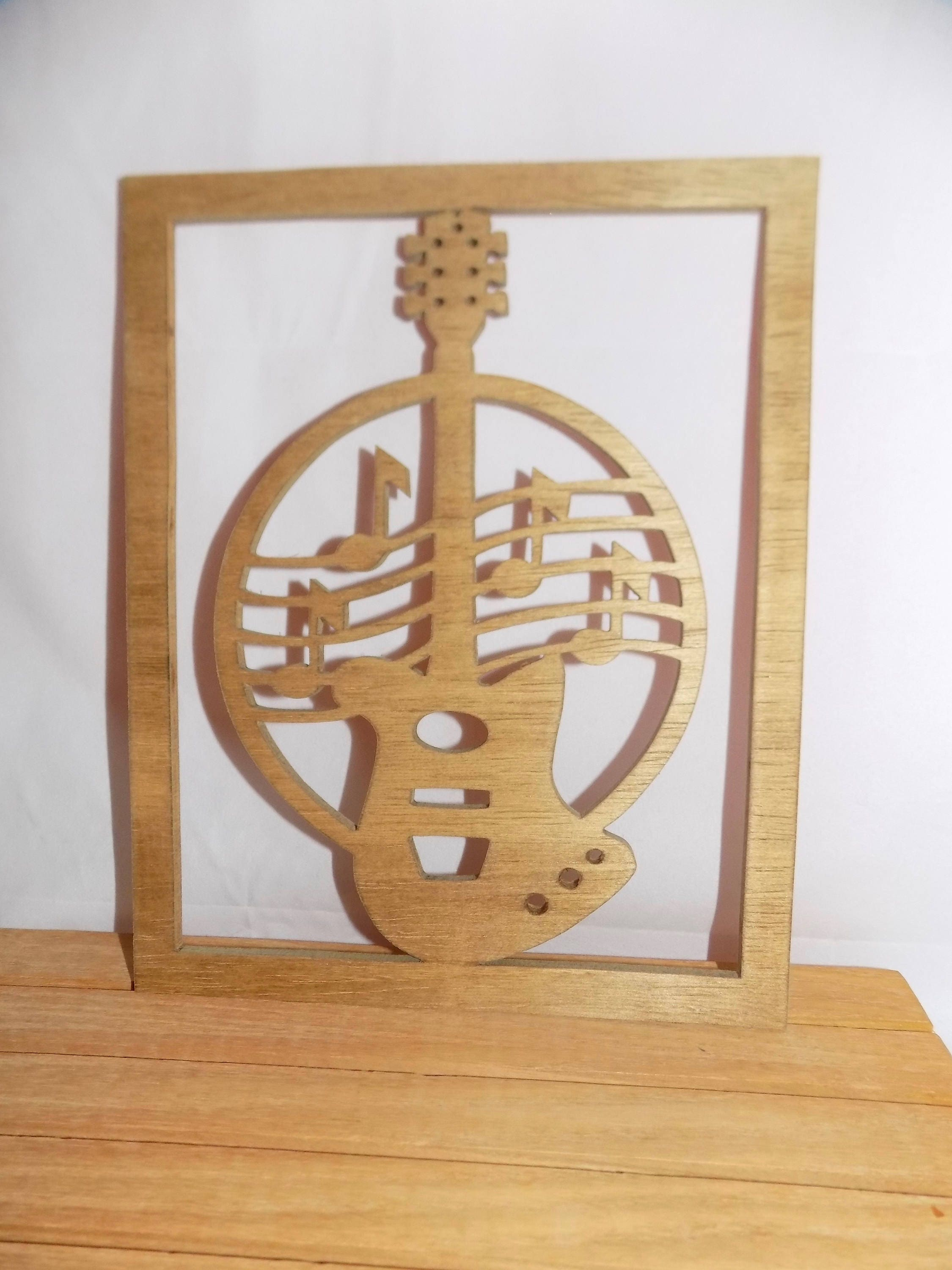 new guitar electric photo scroll saw plaque. Black Bedroom Furniture Sets. Home Design Ideas