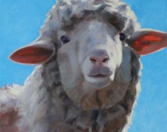 Sheep - western art - ranch - oil painting - original art - Pamela Poll