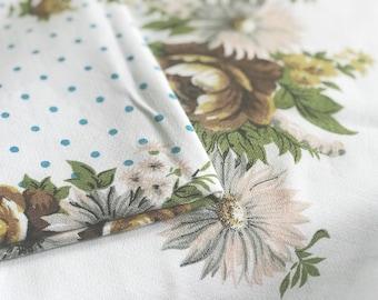 Vintage floral & polka dot tablecloth