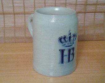 German Beer Stein HB Hofbrauhaus from 1970's