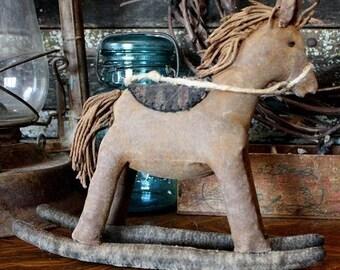Primitive Rocking Horse Doll Digital PDF Pattern