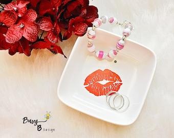 Marilyn Monroe Inspired Jewelry Dish// Marilyn Monroe//Jewelry//Jewelry Dish//Gift//Gifts for Her//Marilyn Monroe Lips//Ring Dish//Christmas