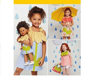 """Simplicity 1172 - Dress, Top, Shorts, Purse and Doll Dress for 18"""" Doll Pattern"""