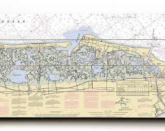 NJ: Stone Harbor, Wildwood, Cape May, NJ Nautical Chart Sign