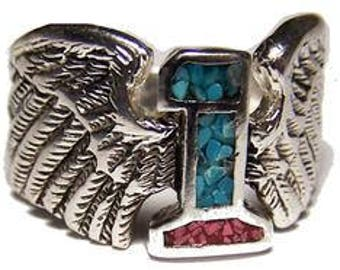 Number 1 with wings Biker Ring
