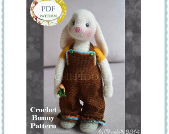PATTERN Crochet Bunny Pattern Instand Download