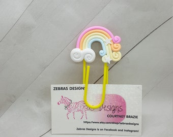 Giant colorful rainbow planner clips, paper clips, bookmark, planner accessories  (PC061)