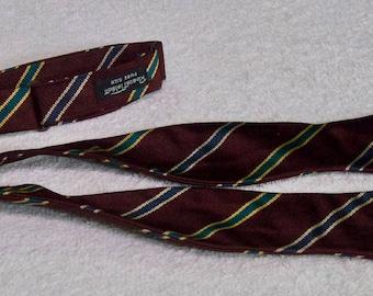 Robert Talbot Silk Stripe Bow Tie