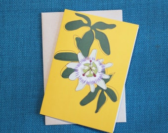 Passion flower - Greeting card