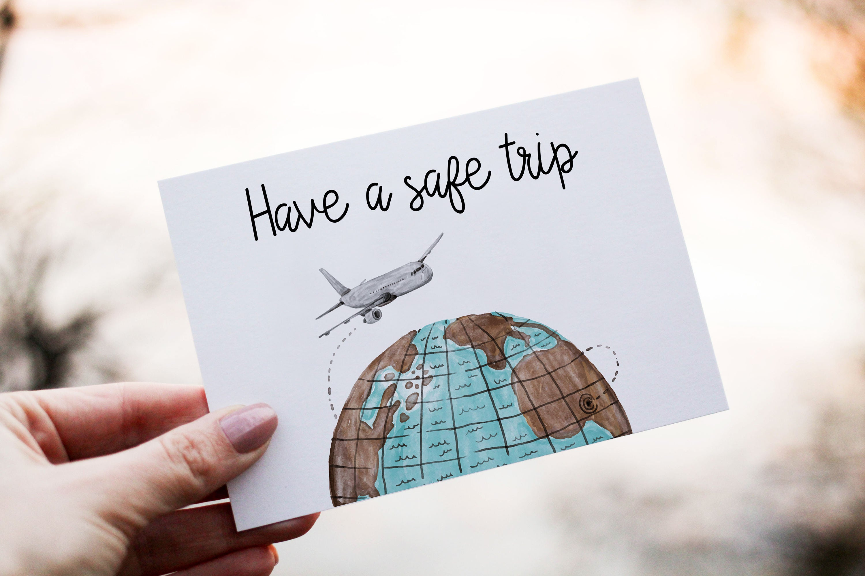 Have a safe trip card leaving card goodbye card printable zoom kristyandbryce Gallery