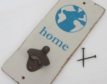 Earth Home Bottle Opener - Grey