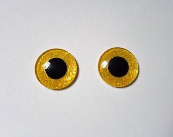 Hand Made Blythe Eye Chips Shining Golden (1 pair)