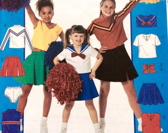 McCall's 3759, Cheerleader Costume, Girls' Costume Pattern, Dress-up, Halloween, Pageant Pattern  Size 12-14-16, Uncut Pattern
