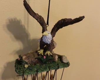 Vintage Eagle Wind Chimes, Eagle Wind Chimes, Garden Décor, Patio Décor, Porch Décor, Bird décor