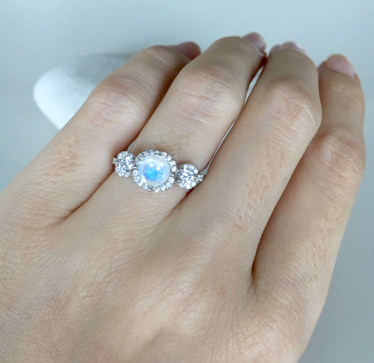 item three diamond and with aquamarine image stone pearl white birthstone sterling rings reeds created june ring oval silver freshwater cultured sapphire of sku wedding