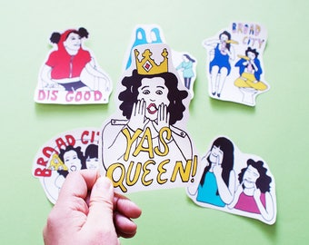 Broad City BIG Individual WATERPROOF Sticker - Vinyl Stickers -Handmade Stickers