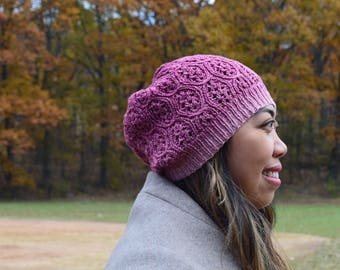 Lace beanie - gradient red