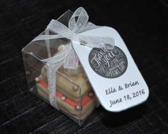 JUST MARRIED THEME assorted decorated cookies. Wedding, reception, 3D cake cookie, car, thank you gift