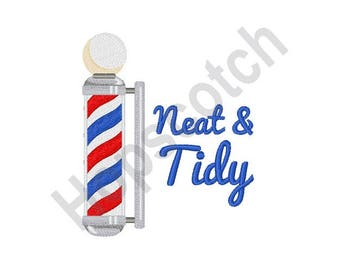 Barber Pole - Machine Embroidery Design, Neat And Tidy