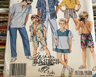 Easy McCalls Boys Sewing Pattern / 1980s Children's and Boy's Shirts, Pants, Shorts / Child's Size 12, Chest 30 / 2946