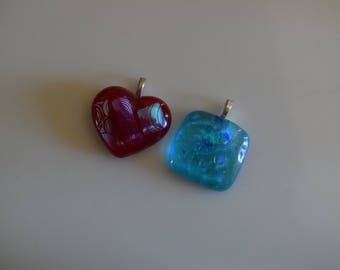 Two For One Fused Dichroic Glass Pendants