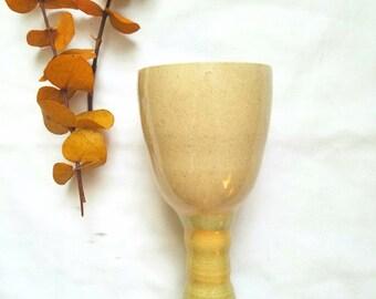 Vintage Handmade Narrow Goblet