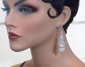 Art Deco Jewelry - 1920s Earrings - Great Gatsby Wedding Jewelry - Downton Abbey Style Jewelry - Miss Fisher - Womens Jewelry
