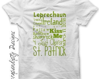 Iron on St. Patrick's Day Shirt PDF - Green Iron on Transfer / Digital Printable Art / Boys St. Pattys Day Baby / St Patricks Outfit IT378