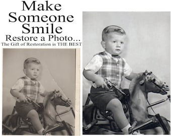Professional Photo Restoration Photo Retouching Photoshop Services Enhance your Photos Today, bring a SMILE to your family! The BEST GIFT!