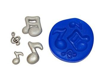 Musical Notes SH133 Silicone Mold