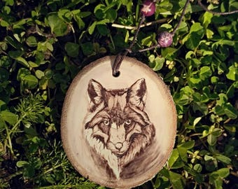 8 kinds of wolf necklaces wood - Howling wolf jewelry wood pyrography art – Red wolf totem necklace - Spirit wolf art jewelry animal pendant