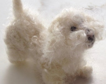 Bichon Frisse custom-made needle felted soft sculpture/or your pet