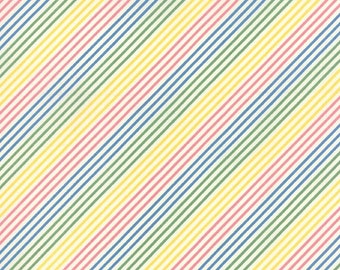 SALE - Moda - Fresh Air by American Jane - Fresh Air Bias Stripe - Pastel