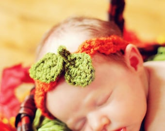 Baby HAT CROCHET PATTERN in 5 sizes 0-10 years Baby Child Zig-Zag Headband with Leaves