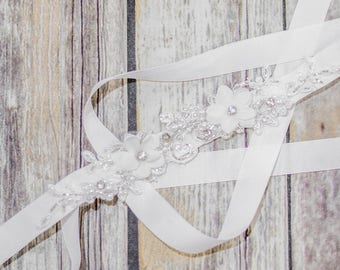 Bridal Sash, Wedding Belts & Sashes, Gems Bridal Sash, Rhinestone bridal belt, Floral Wedding Dress Sash, Wedding Sash, Floral sash. #Belt07