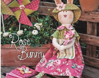 Pdf Sewing Pattern-STUFFED BUNNY - Bunny sewing pattern, Cloth Doll pattern, Bunny doll, Pdf Pattern, stuffed toy.