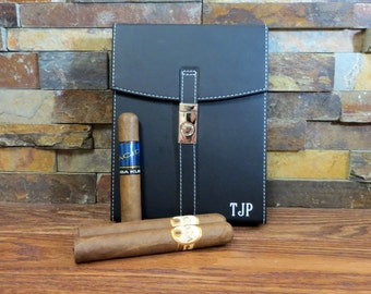 Personalized Cigar Humidor - Gifts for Men- Groomsmen Gift- Best Man-Fathers Day- Husband- Father of the Bride- Groom- Monogram - Christmas