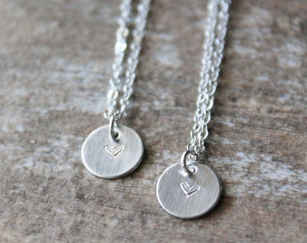 Sterling Silver Best friends Necklace Set, Mom and Daughter necklace set, two necklaces, friendship necklace